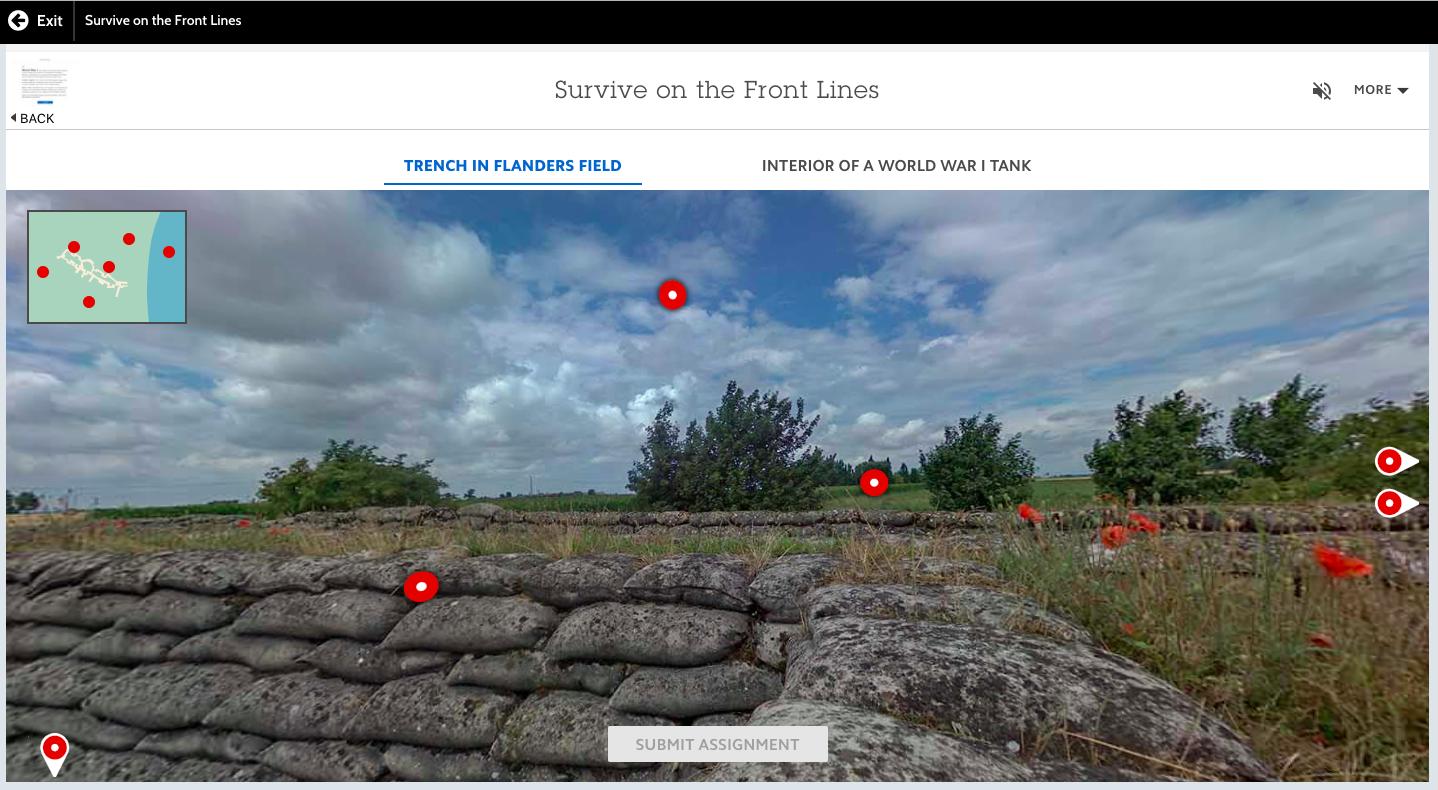 Project Imagine: World History - Trench Warfare 360 Immersive Experience