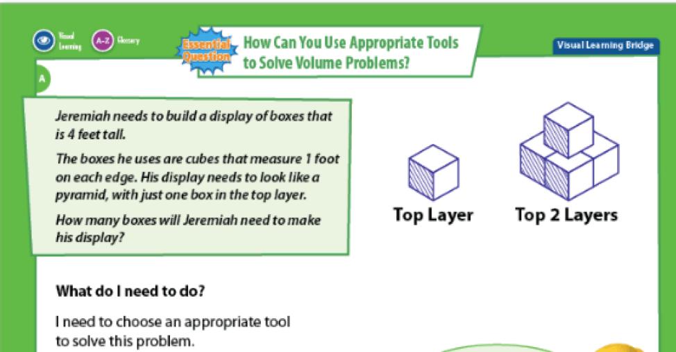 Visual Learning Bridge - enVision Mathematics - ELL resources